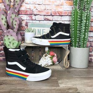Vans Sk8-hi V Rainbow Black Suede Shoes High Tops